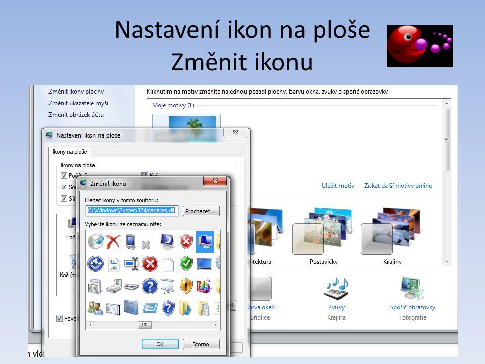 Nastavení ikon na ploše Změnit ikonu