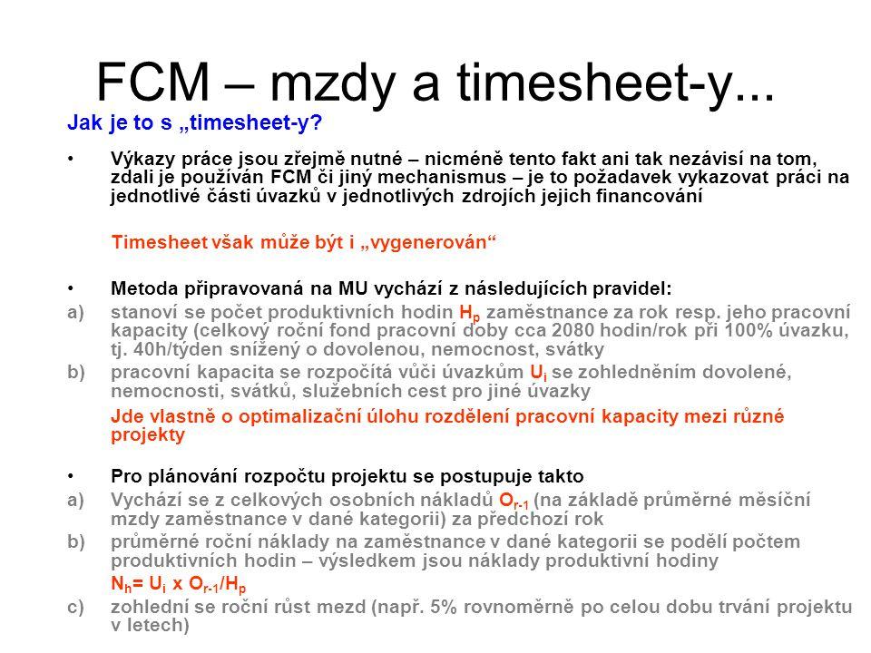 """FCM – mzdy a timesheet-y... Jak je to s """"timesheet-y? Výkazy práce jsou zřejmě nutné – nicméně tento fakt ani tak nezávisí na tom, zdali je používán F"""