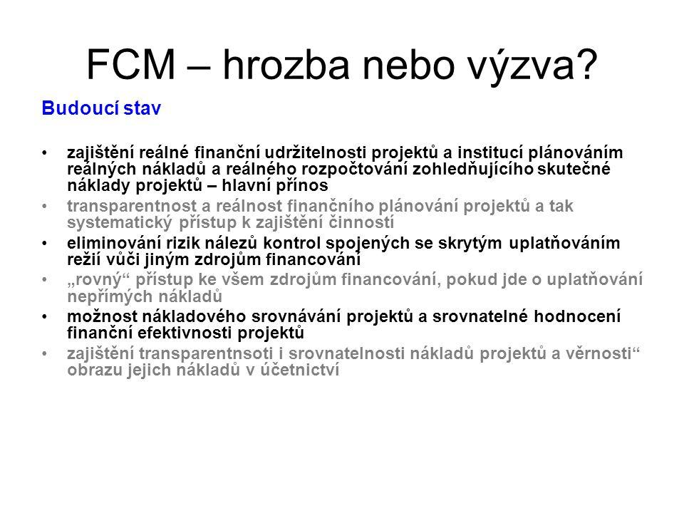 FCM – hrozba nebo výzva.