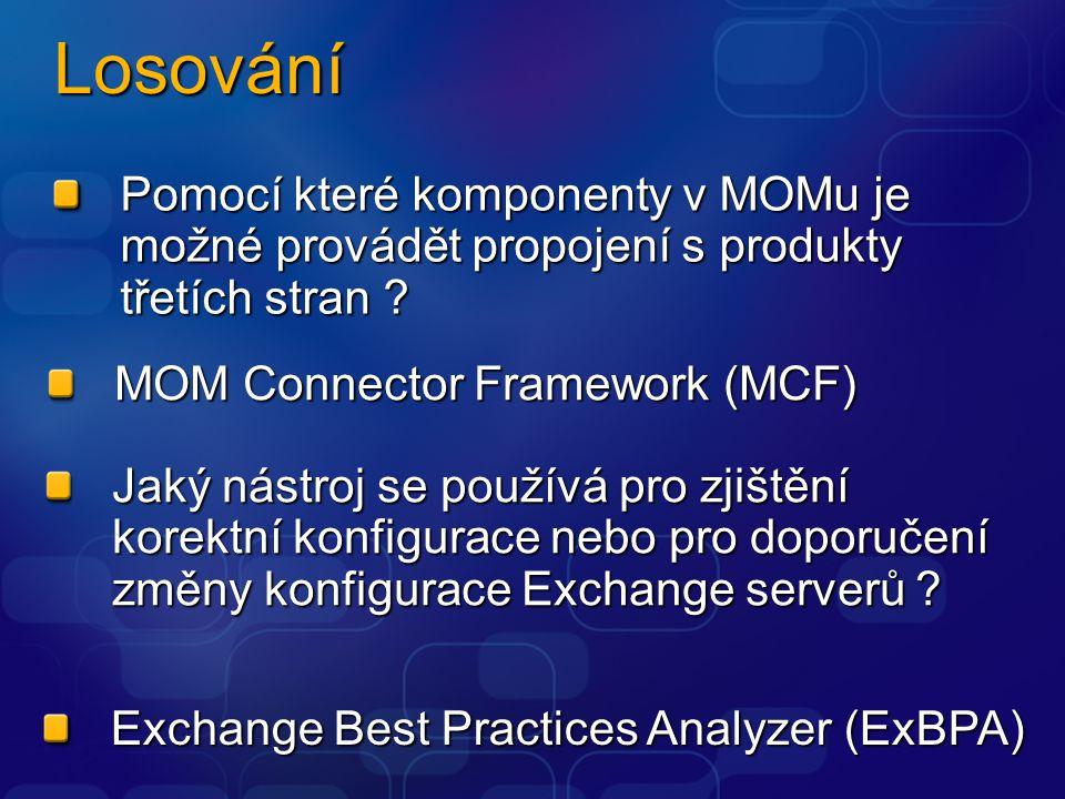 Losování Pomocí které komponenty v MOMu je možné provádět propojení s produkty třetích stran ? Jaký nástroj se používá pro zjištění korektní konfigura