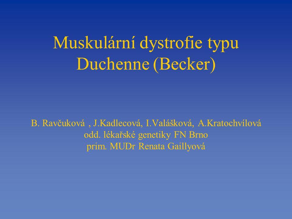 Muskulární dystrofie typu Duchenne (Becker) B.