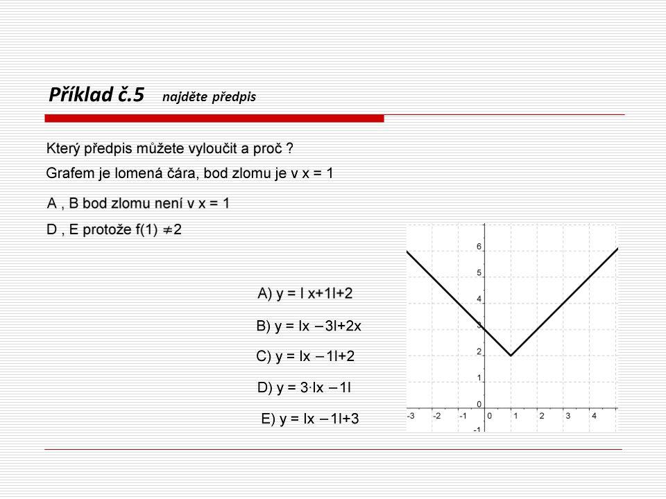 TEST příklad č. 6 – najděte předpis
