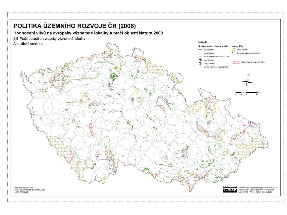 """Závěr Závěrem možno konstatovat, že předložená koncepce """"Politika územního rozvoje ČR 2008 má významně negativní vliv na evropsky významné lokality a ptačí oblasti."""