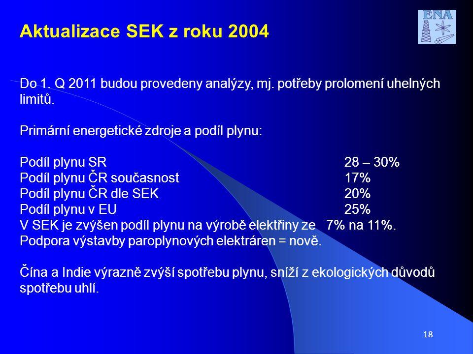 18 Do 1. Q 2011 budou provedeny analýzy, mj. potřeby prolomení uhelných limitů.