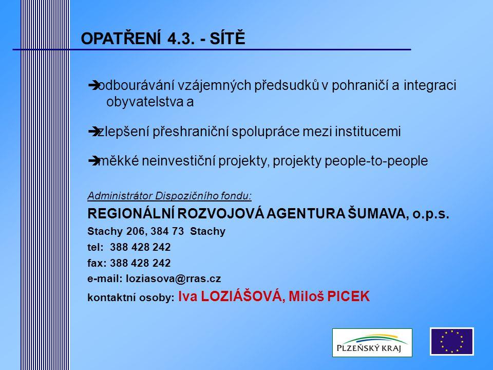 OPATŘENÍ 4.3.