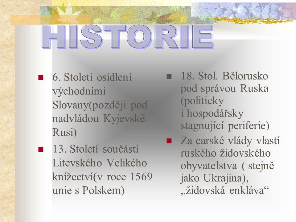 6. Století osídlení východními Slovany(později pod nadvládou Kyjevské Rusi) 13. Století součástí Litevského Velikého knížectví(v roce 1569 unie s Pols