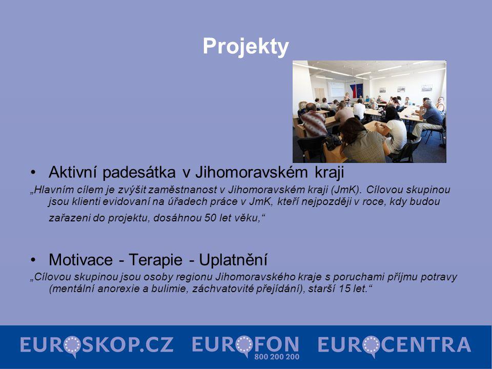 """Projekty Aktivní padesátka v Jihomoravském kraji """"Hlavním cílem je zvýšit zaměstnanost v Jihomoravském kraji (JmK). Cílovou skupinou jsou klienti evid"""