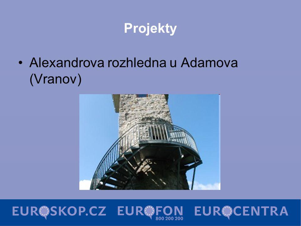 Projekty Alexandrova rozhledna u Adamova (Vranov)
