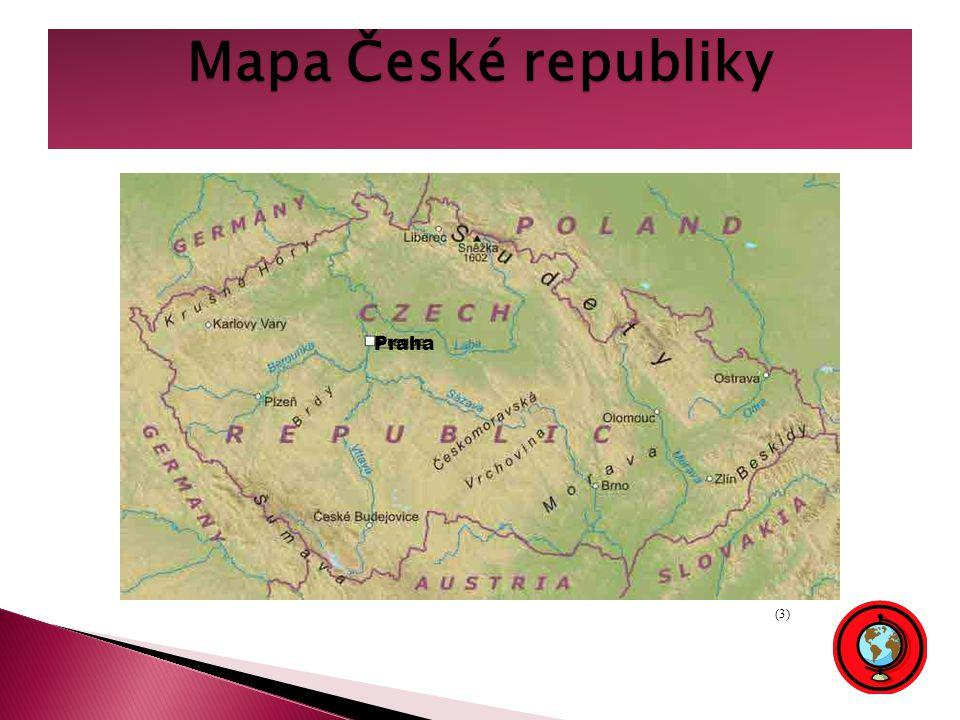 Mapa České republiky Praha (3)