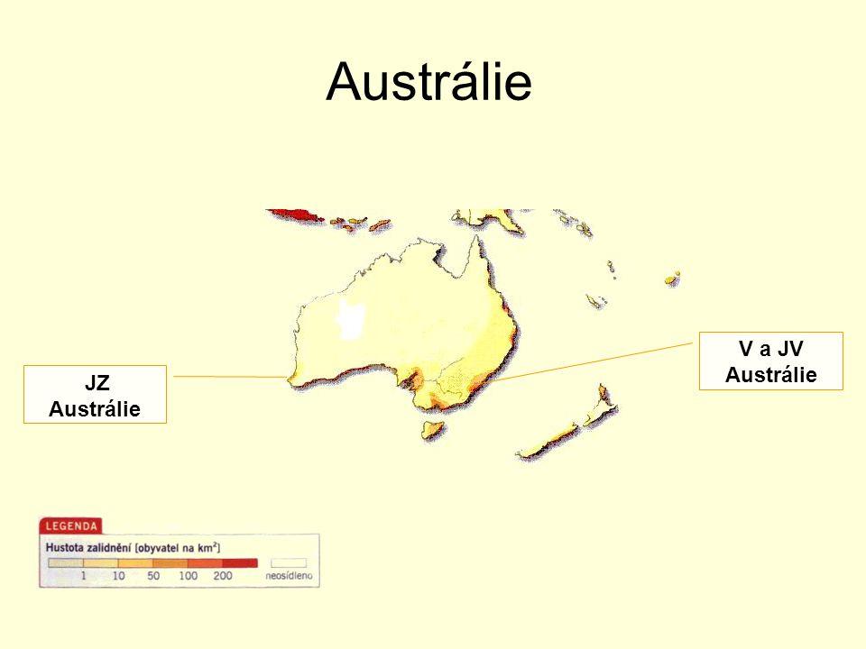 Austrálie V a JV Austrálie JZ Austrálie