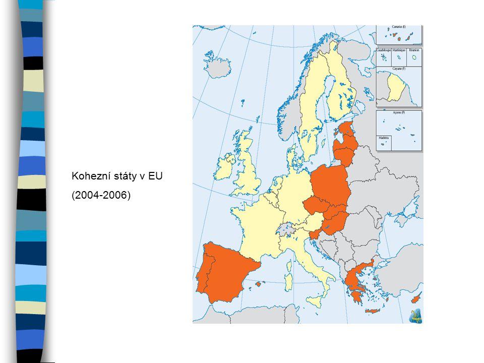 Kohezní státy v EU (2004-2006)