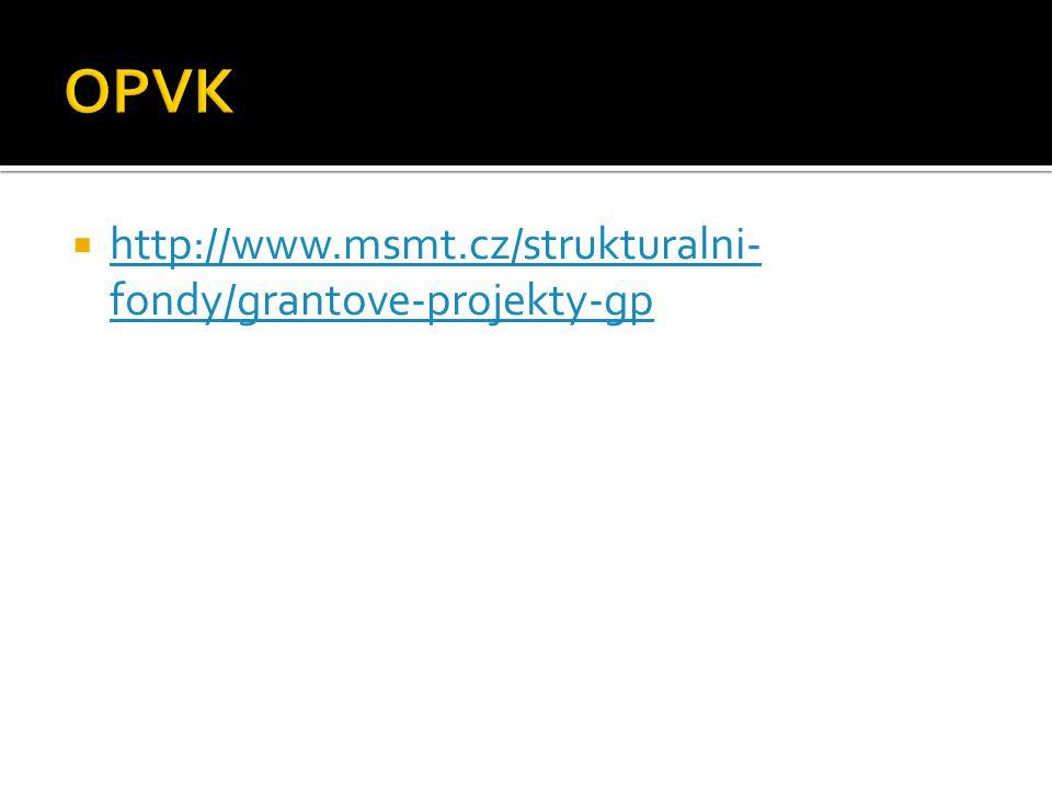  http://www.msmt.cz/strukturalni- fondy/grantove-projekty-gp http://www.msmt.cz/strukturalni- fondy/grantove-projekty-gp