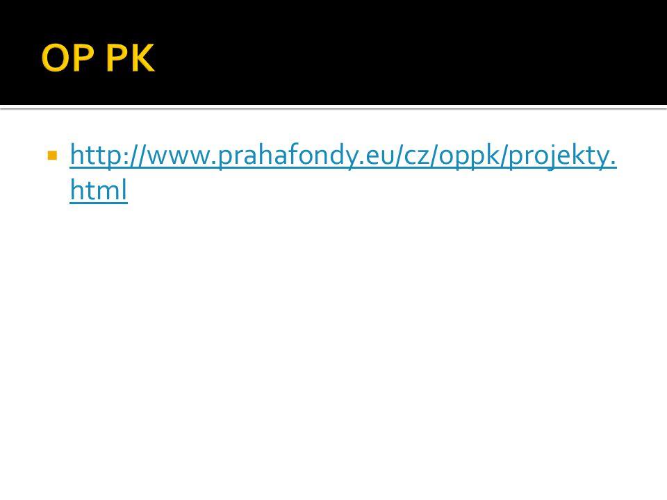  http://www.prahafondy.eu/cz/oppk/projekty. html http://www.prahafondy.eu/cz/oppk/projekty. html