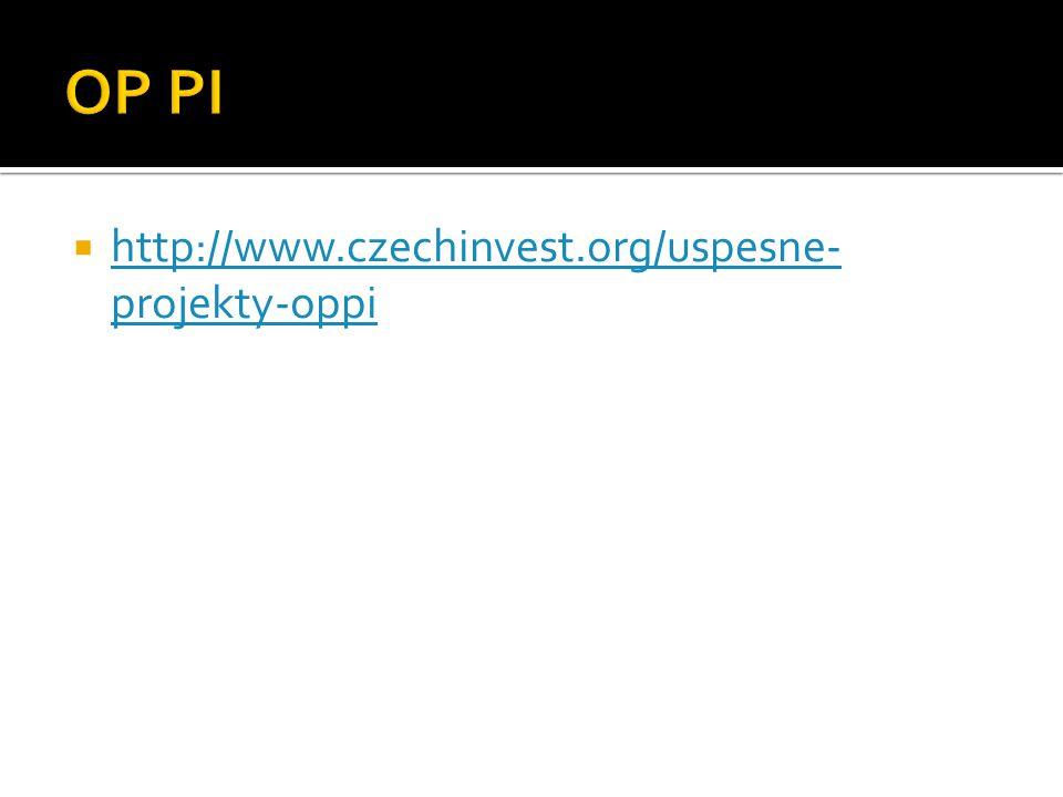  http://www.czechinvest.org/uspesne- projekty-oppi http://www.czechinvest.org/uspesne- projekty-oppi
