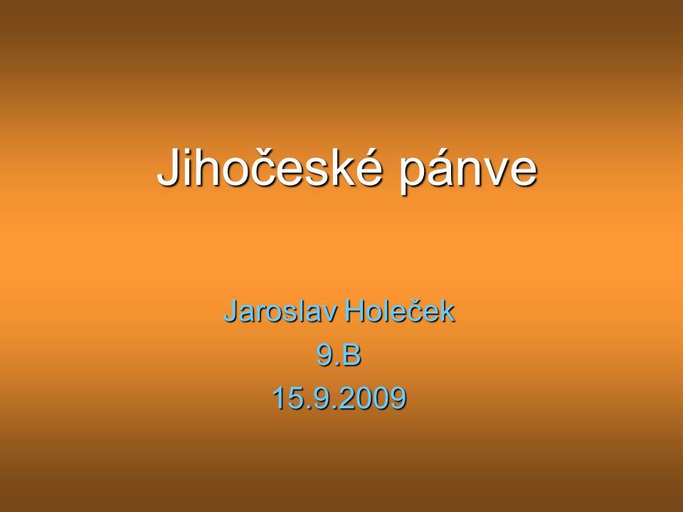 Jihočeské pánve Jaroslav Holeček 9.B15.9.2009