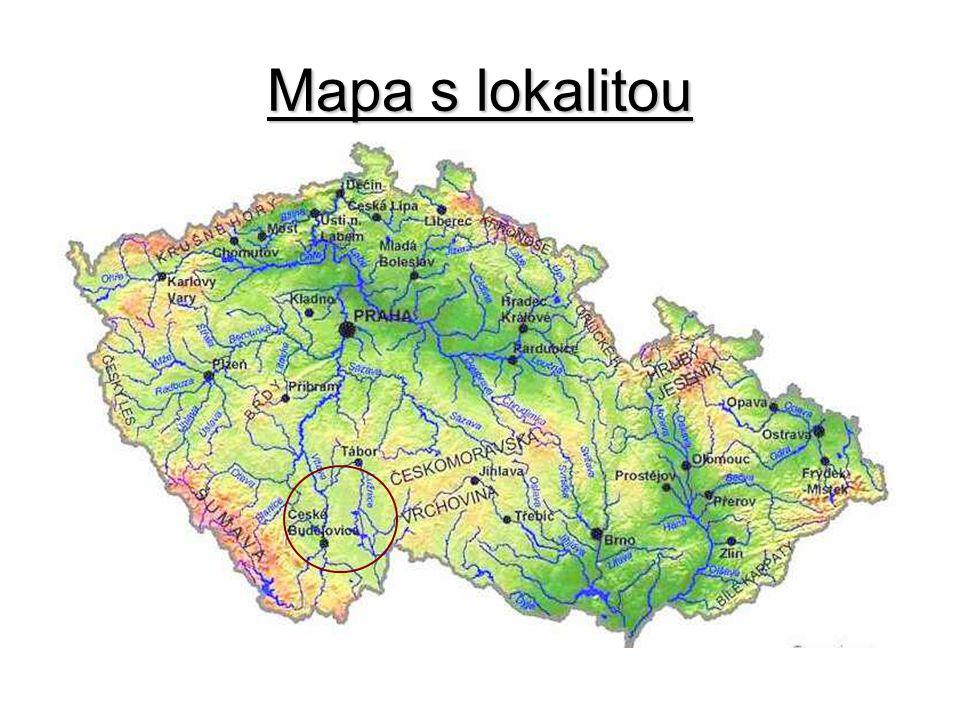 Mapa s lokalitou