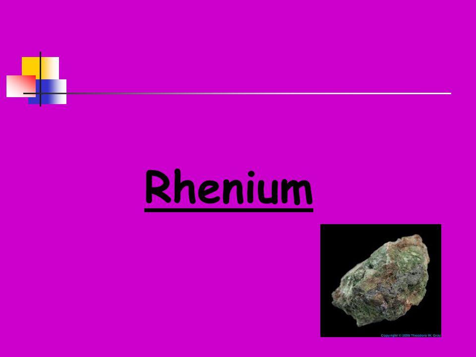 3) SOLI Rhenistan draselný KReO 4 -zcela stálý v silně zásaditých roztocích -je výchozí látkou na přípravu ostatních sloučenin Rhenia -krystaluje bezvodý