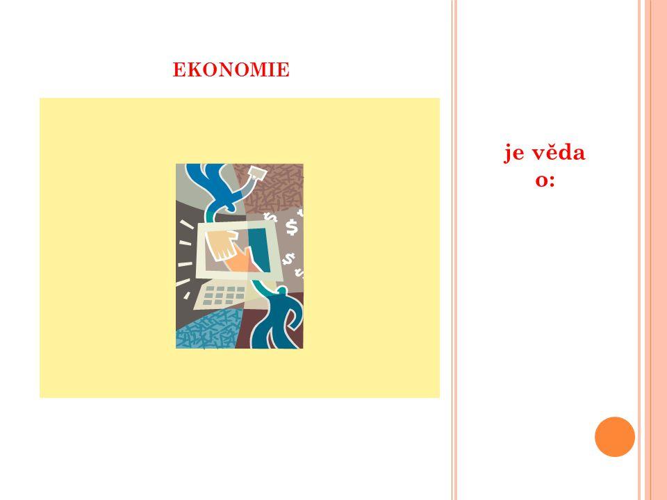 EKONOMIE je věda o: