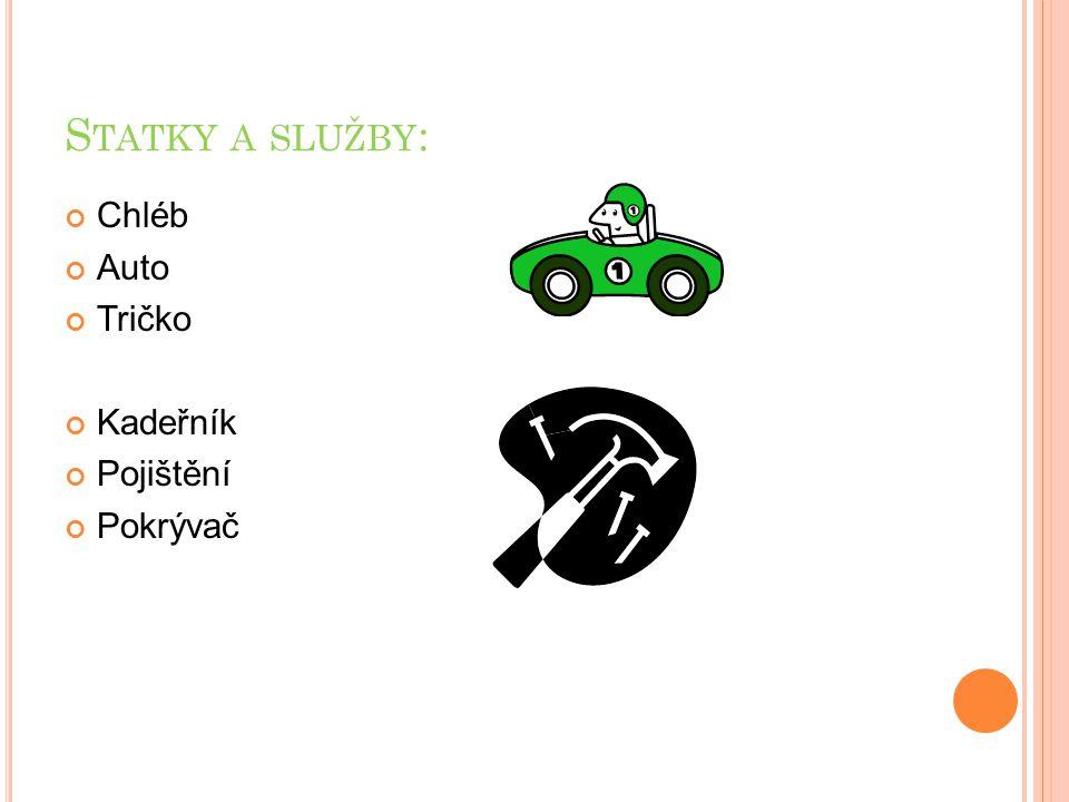 S TATKY A SLUŽBY : Chléb Auto Tričko Kadeřník Pojištění Pokrývač