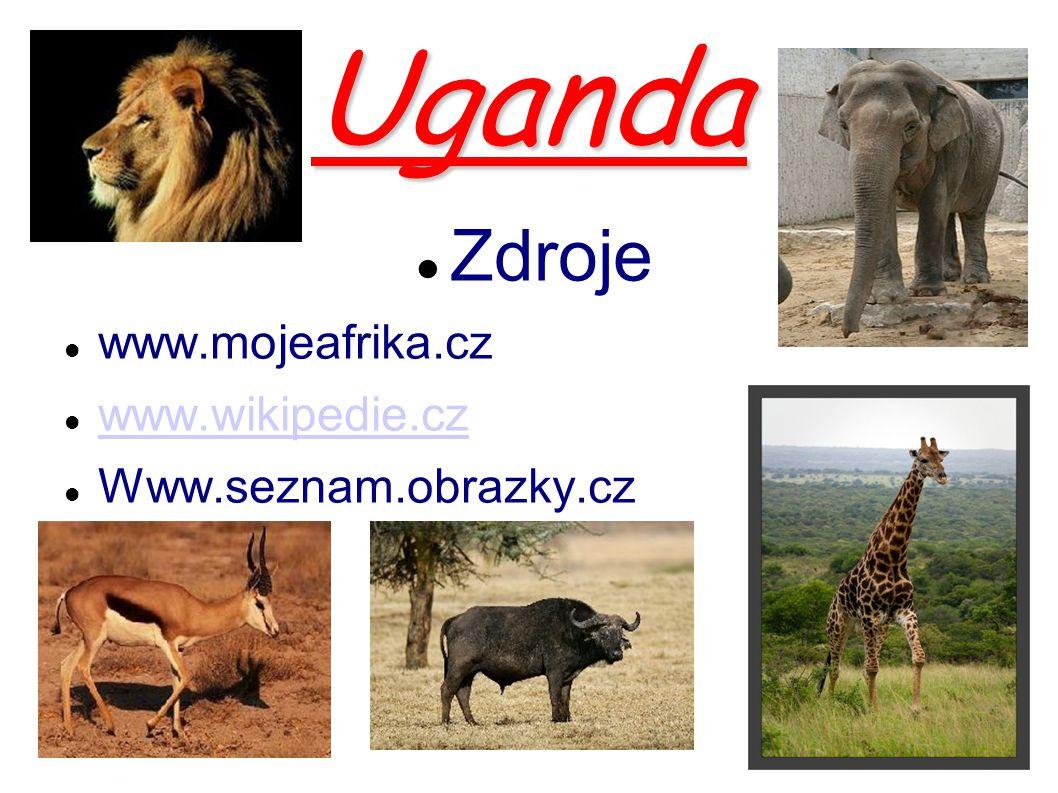 Uganda Zdroje www.mojeafrika.cz www.wikipedie.cz Www.seznam.obrazky.cz
