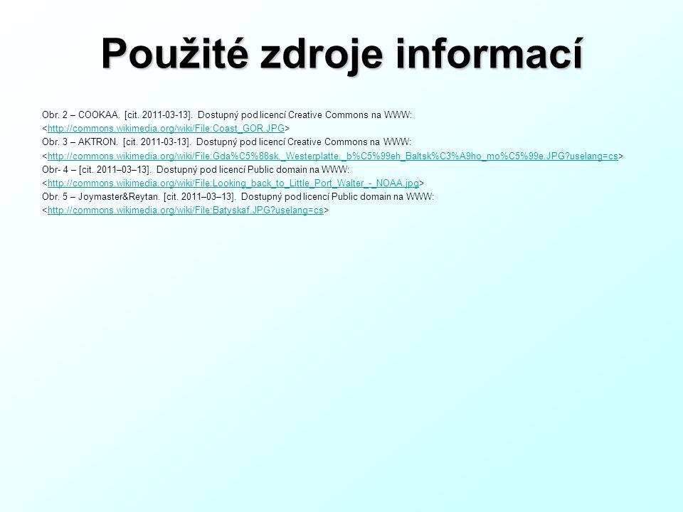 Použité zdroje informací Obr.2 – COOKAA. [cit. 2011-03-13].
