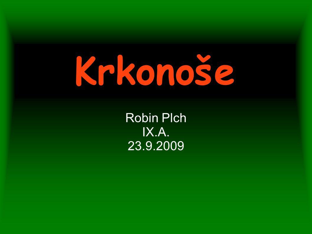 Krkonoše Robin Plch IX.A. 23.9.2009