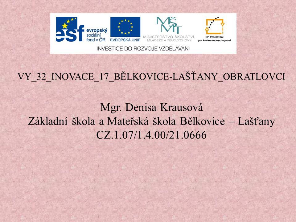 VY_32_INOVACE_17_BĚLKOVICE-LAŠŤANY_OBRATLOVCI Mgr.