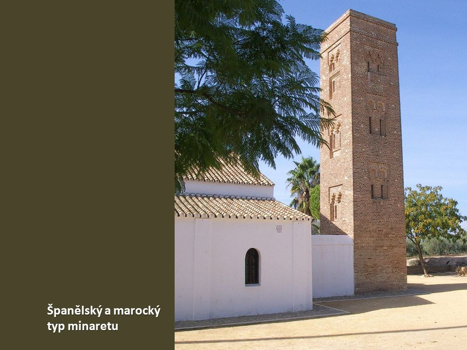 Španělský a marocký typ minaretu
