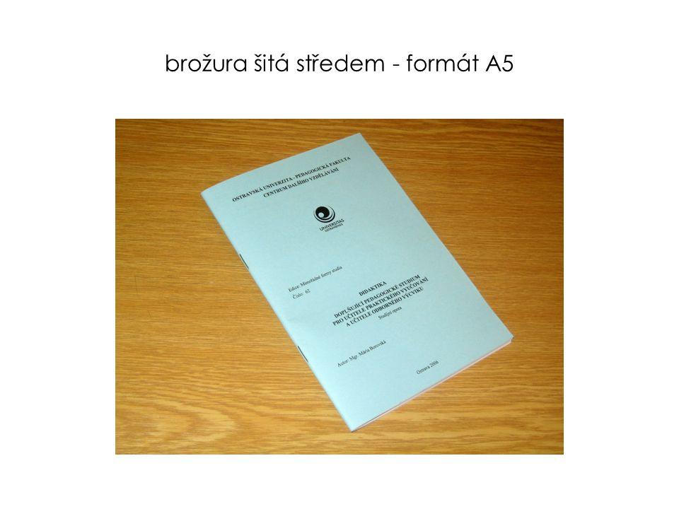 zhotovíme pro Vás  tisk černobílý (také na karton a barevný papír)  tisk plnobarevný  tisk jednostranný, oboustranný ve formátu A3 – A7  tisk brožur, skript, sborníků, učebních textů, informačních letáků …  vazby dokumentů : kroužkovou, lepenou, šitou, v liště  laminování ve formátu A3 - průkazky  vizitky  skládání informačních letáků  řezání od formátu A3