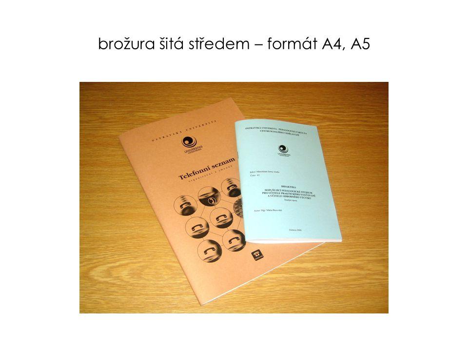brožura šitá středem - formát A5