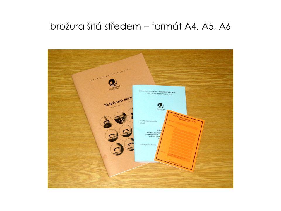 brožura šitá středem – formát A4, A5