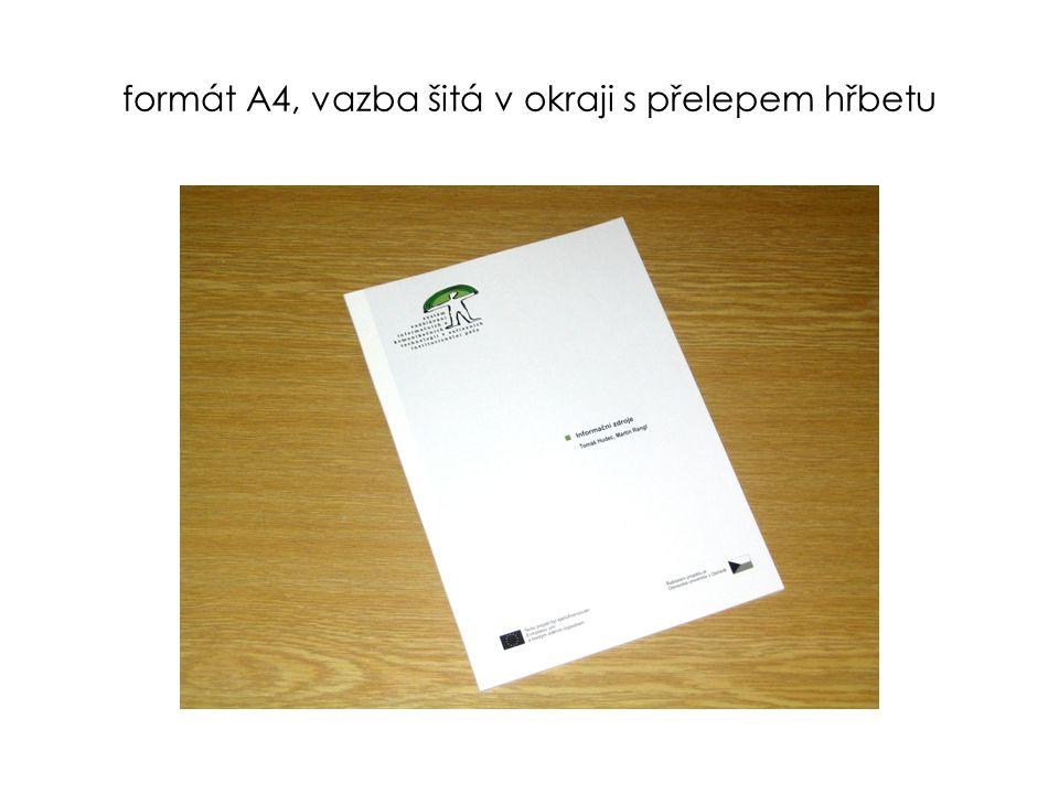 brožura šitá středem – formát A4, A5, A6