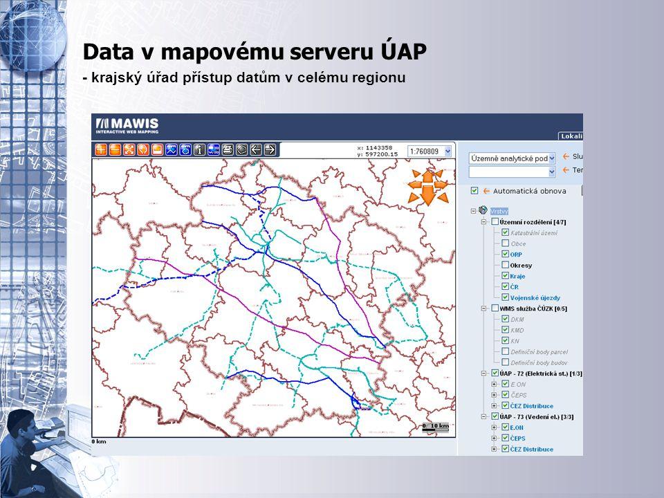 Úvodní stránka - partner v digitálním světě Data v mapovému serveru ÚAP - krajský úřad přístup datům v celému regionu