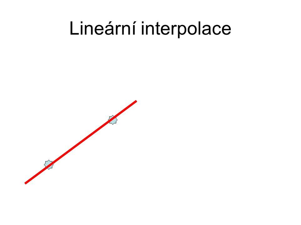 Lineární Bézierova křivka B(t) = (1-t).P0 + t.P1 Parametrická rovnice úsečky