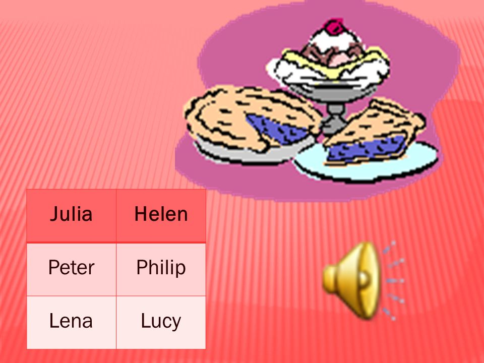 JuliaHelen PeterPhilip LenaLucy
