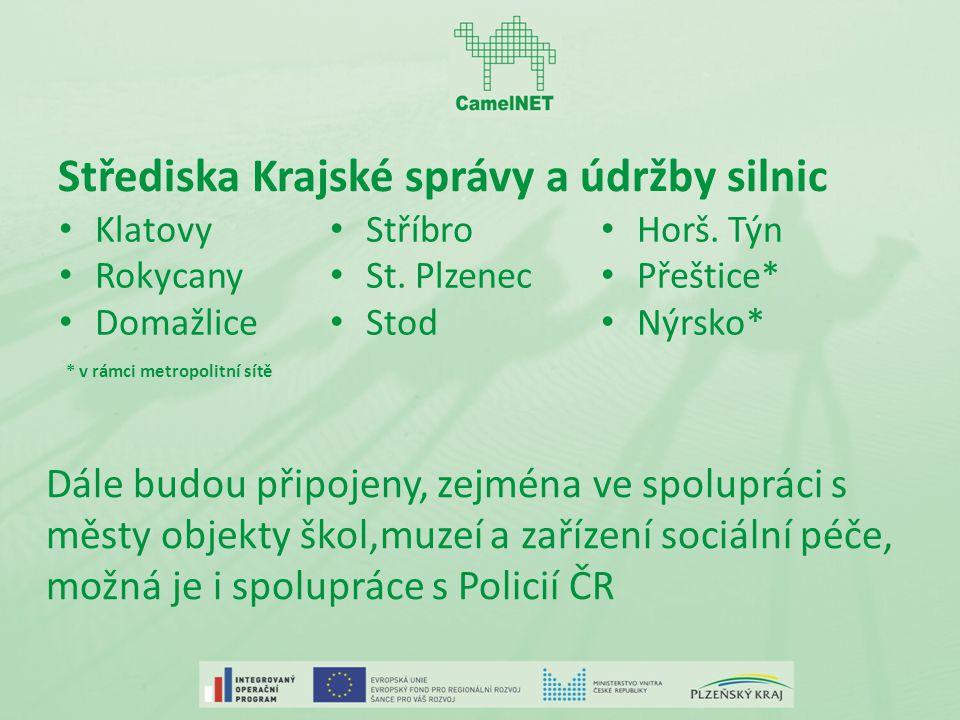 Střediska Krajské správy a údržby silnic Klatovy Rokycany Domažlice Stříbro St.