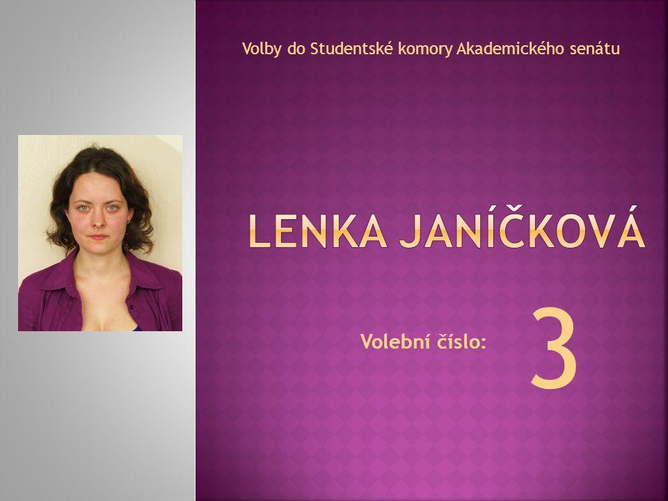 Volební číslo: Volby do Studentské komory Akademického senátu 3