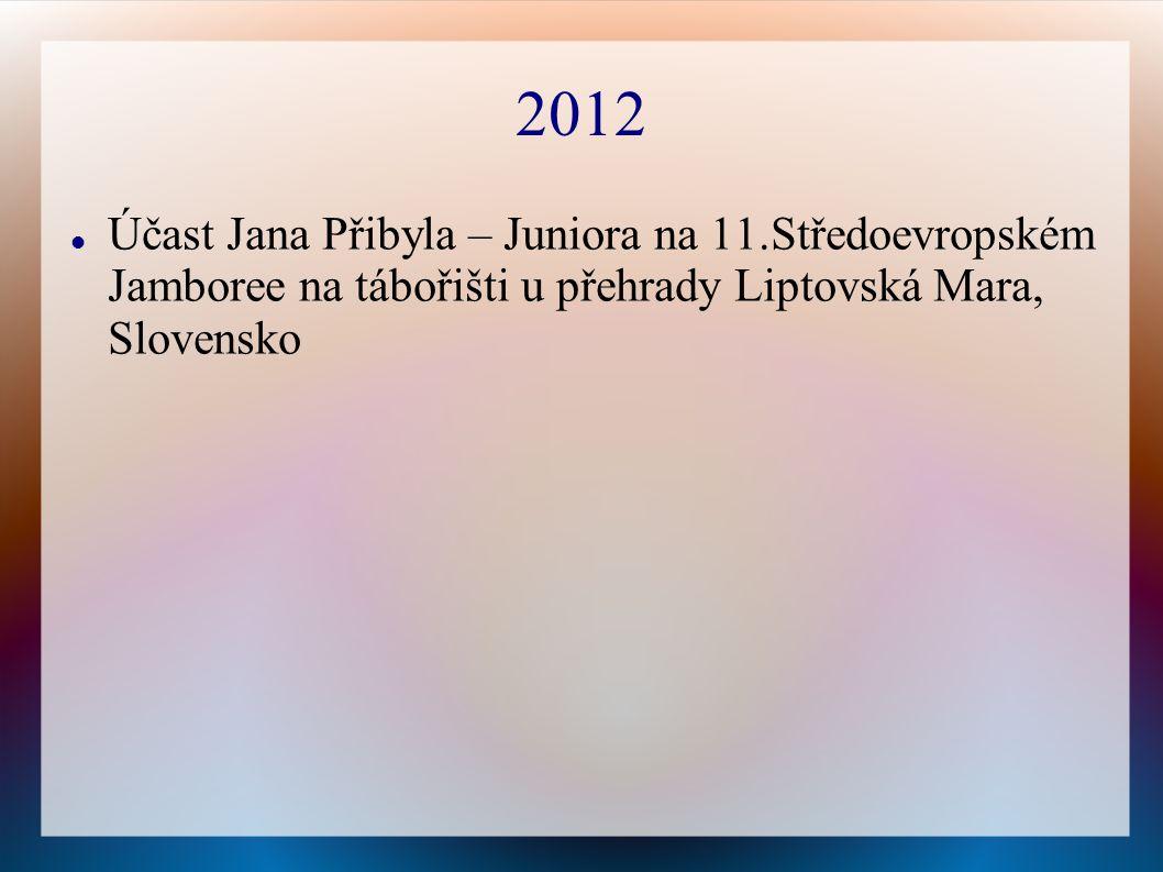 2012 Účast Jana Přibyla – Juniora na 11.Středoevropském Jamboree na tábořišti u přehrady Liptovská Mara, Slovensko