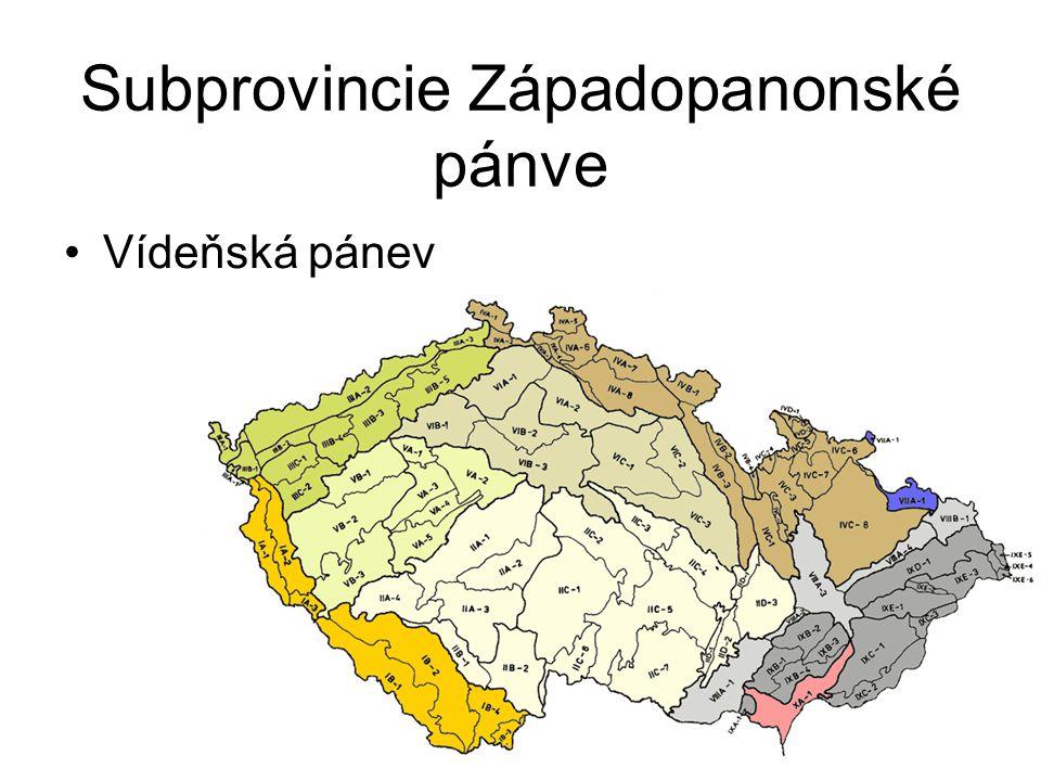 Subprovincie Západopanonské pánve Vídeňská pánev