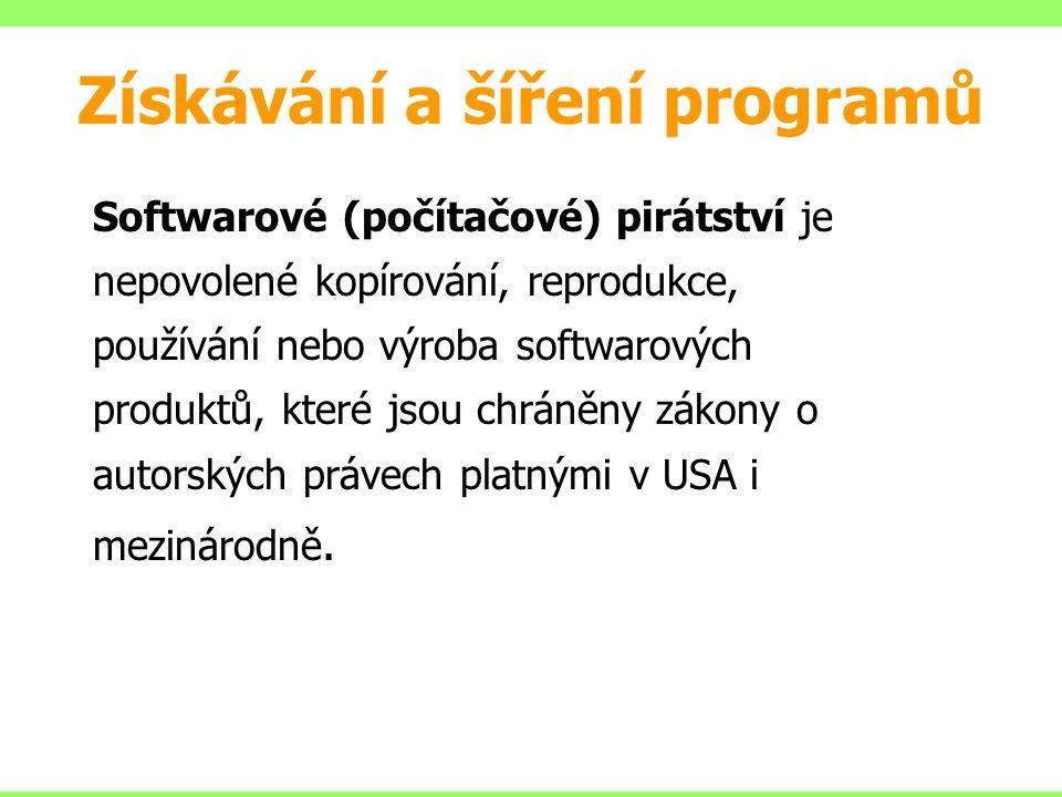Softwarové (počítačové) pirátství je nepovolené kopírování, reprodukce, používání nebo výroba softwarových produktů, které jsou chráněny zákony o auto