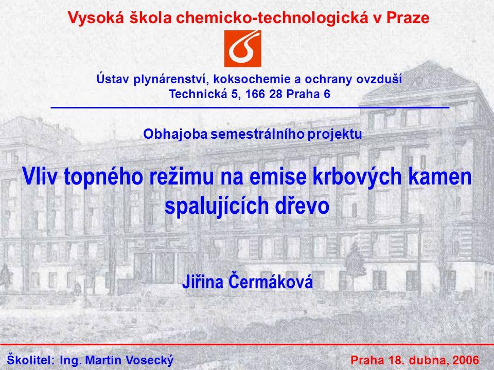 VŠCHT Praha 18.4.2006 12 Poděkování Ing.Martinovi Voseckému Ing.