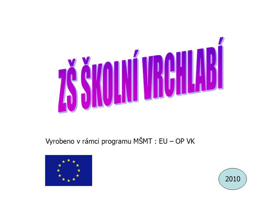2010 Vyrobeno v rámci programu MŠMT : EU – OP VK