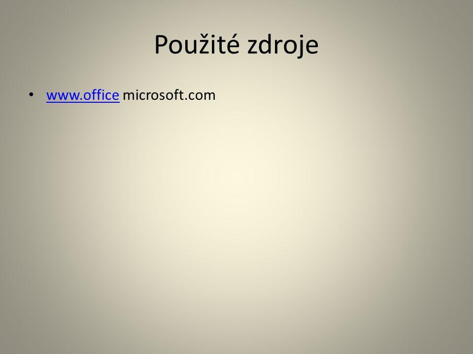 Použité zdroje www.office microsoft.com www.office