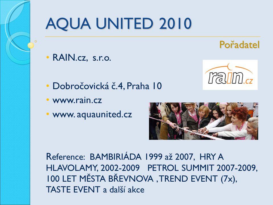 AQUA UNITED 2010 RAIN.cz, s.r.o. Dobročovická č.4, Praha 10 www.rain.cz www. aquaunited.cz R eference: BAMBIRIÁDA 1999 až 2007, HRY A HLAVOLAMY, 2002-