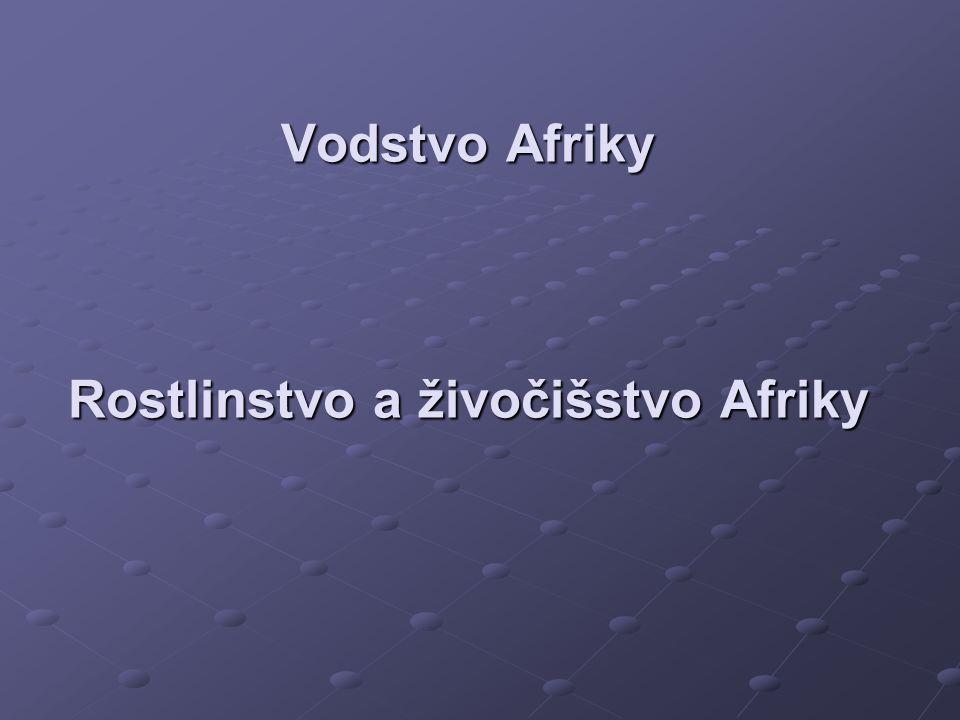 Vodstvo Afriky 1. Řeky