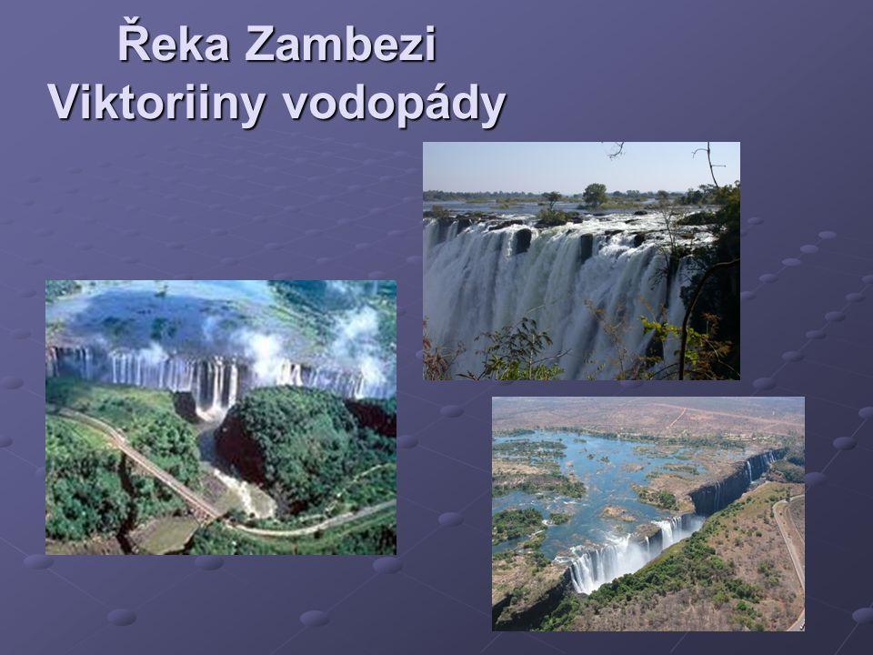 Řeka Zambezi Viktoriiny vodopády