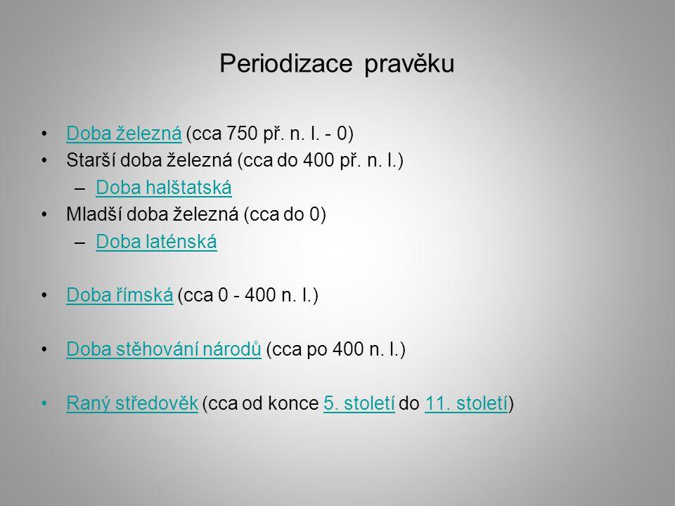 Periodizace pravěku Doba železná (cca 750 př.n. l.