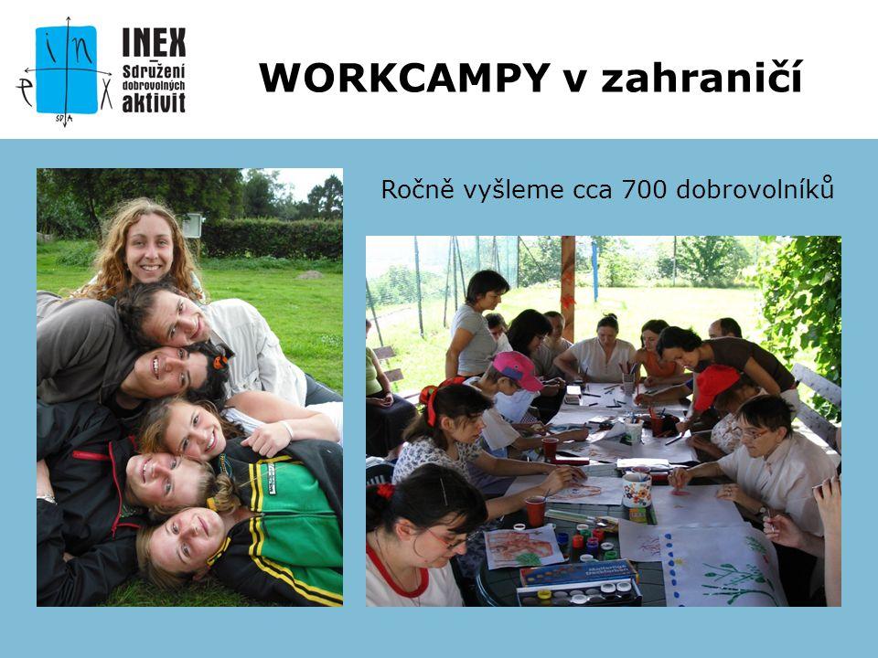 Ročně vyšleme cca 700 dobrovolníků WORKCAMPY v zahraničí