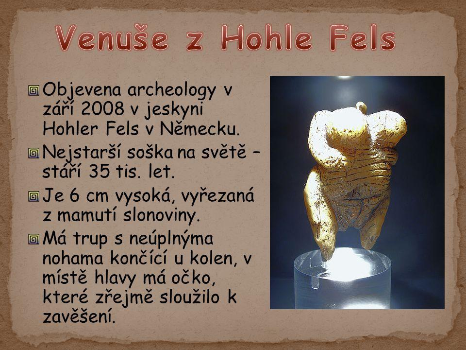 Objevena archeology v září 2008 v jeskyni Hohler Fels v Německu.