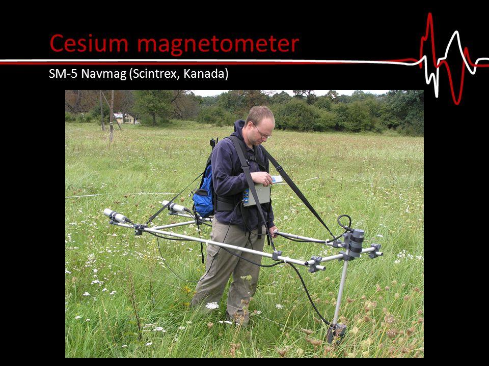 gradiometer (magnetic field gradientΔT [nT/m]) variometer (total magnetic fieldT [nT] ) Proton magnetometer PMG-1 fa in gradient mode, Geofyzika Brno Modes of measurements